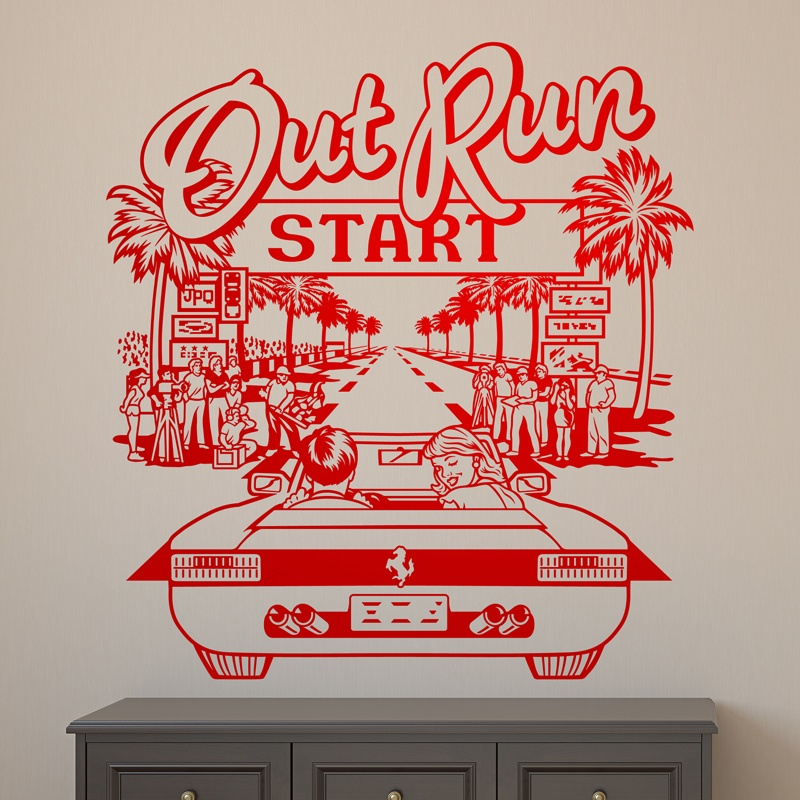 Wall Stickers: Out Run