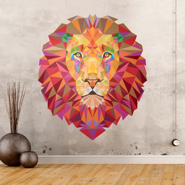Wall Stickers: Lion head origami
