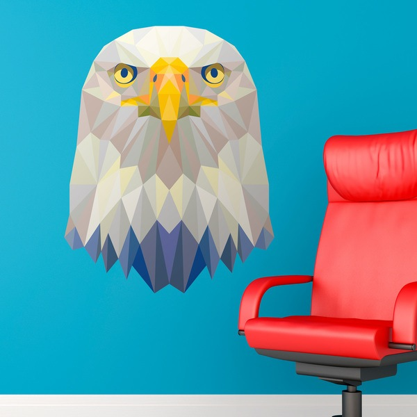Wall Stickers: Head of Origami Eagle