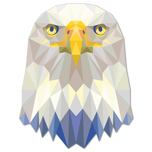 Wall Stickers: Eagle head origami 0