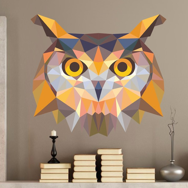 Wall Stickers: Owl head origami