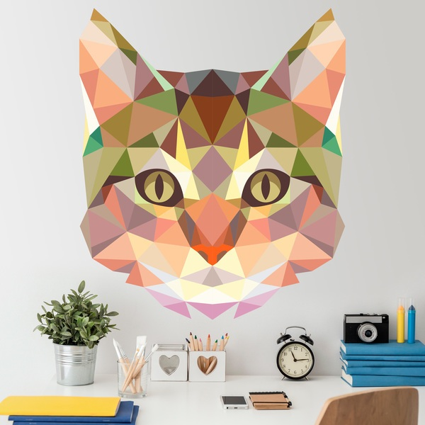 Wall Stickers: Cat head origami
