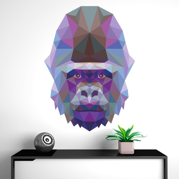 Wall Stickers: Head of Origami Gorilla