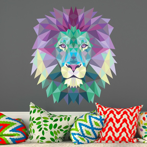 Wall Stickers: Lion head origami cold