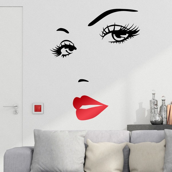 Wall Stickers: Beautiful woman's face