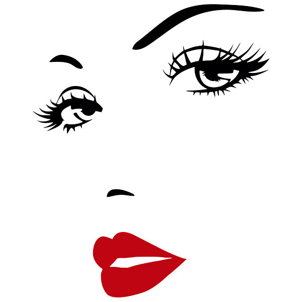 Wall Stickers: Beautiful woman face