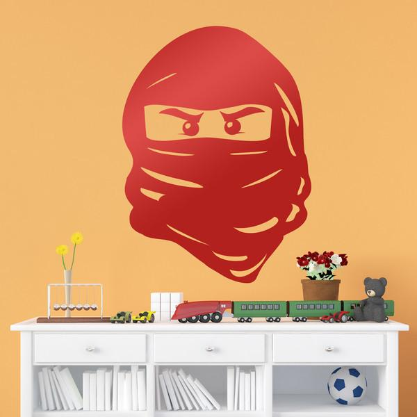 Stickers for Kids: Face of Lego Ninja