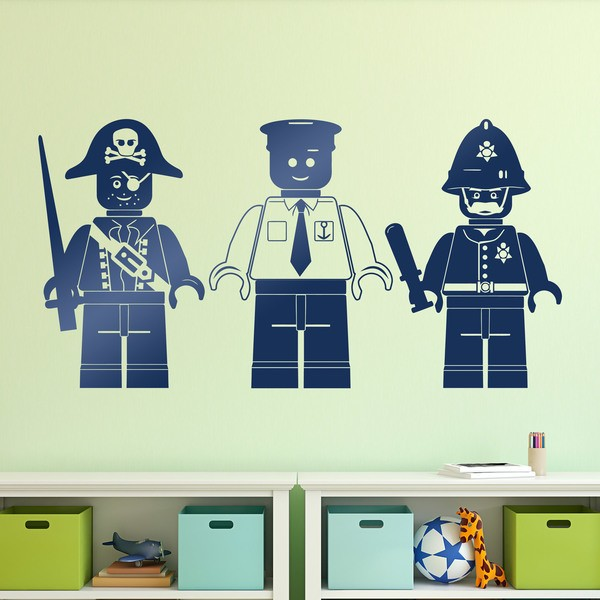 Stickers for Kids: Three Lego figures