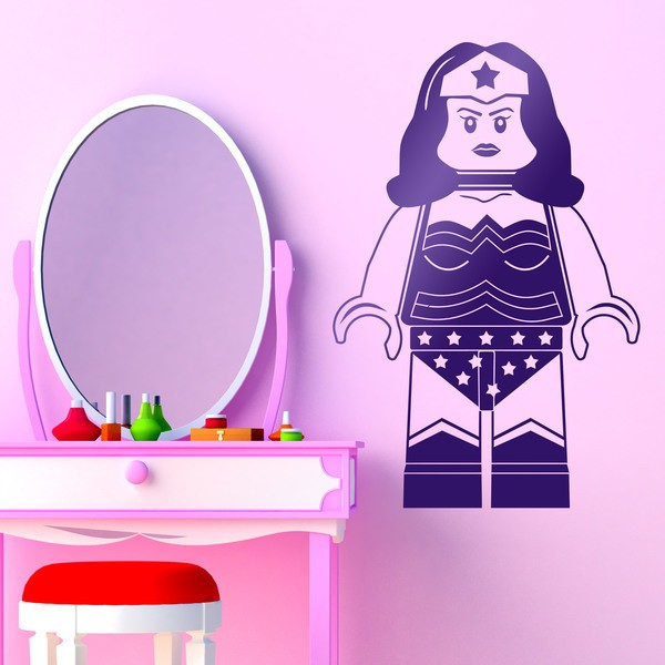 Stickers for Kids: Figure Lego Superwoman
