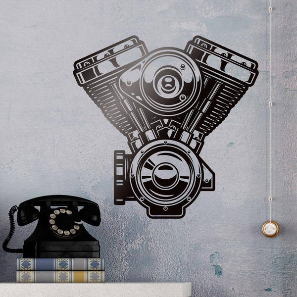 Wall Stickers: Motor Evolution Engine Harley Davidson