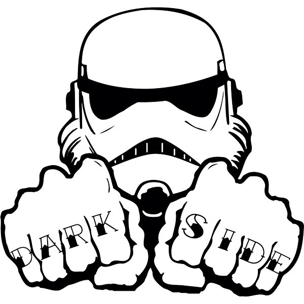 Wall Stickers: Stormtrooper Dark Side Tattoo hands