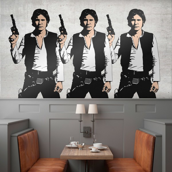 Wall Stickers: Triple Han Solo