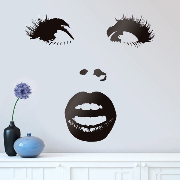 Wall Stickers: Surprised woman face