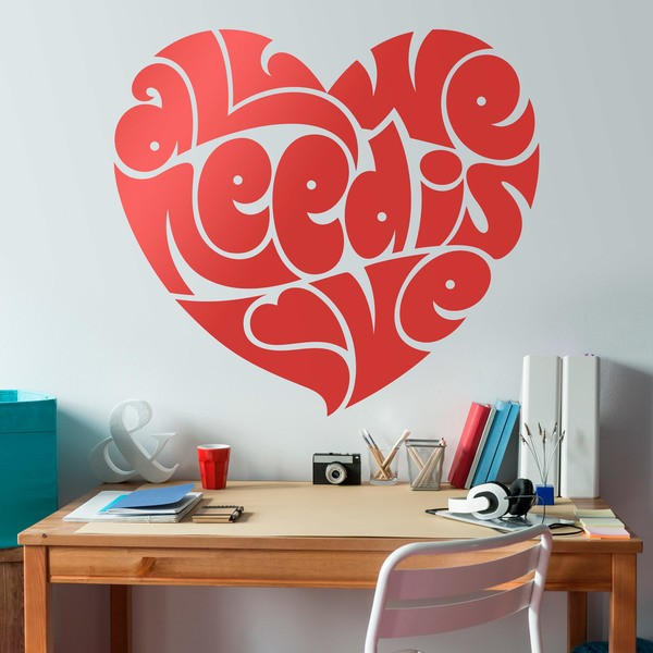 Wall Stickers: Heart All we need is love