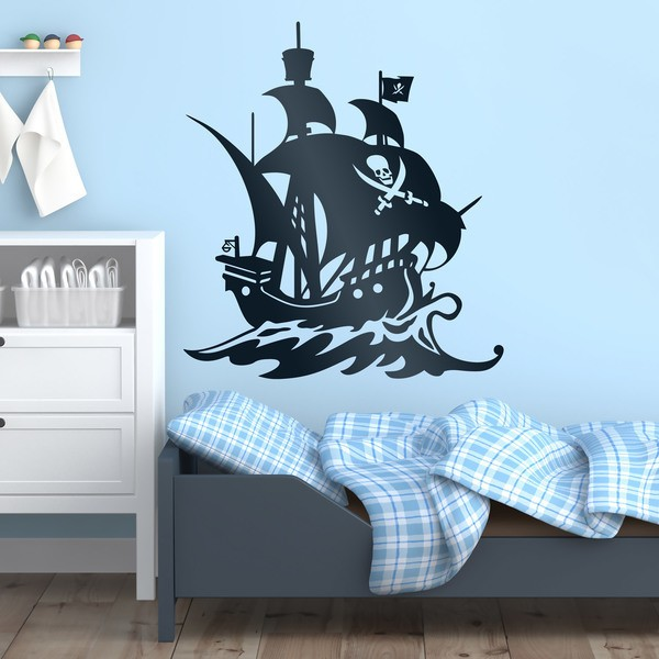 Stickers for Kids: Pirate ship sailing