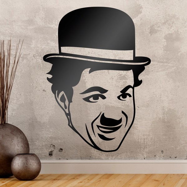 Wall Stickers: Charles Chaplin face