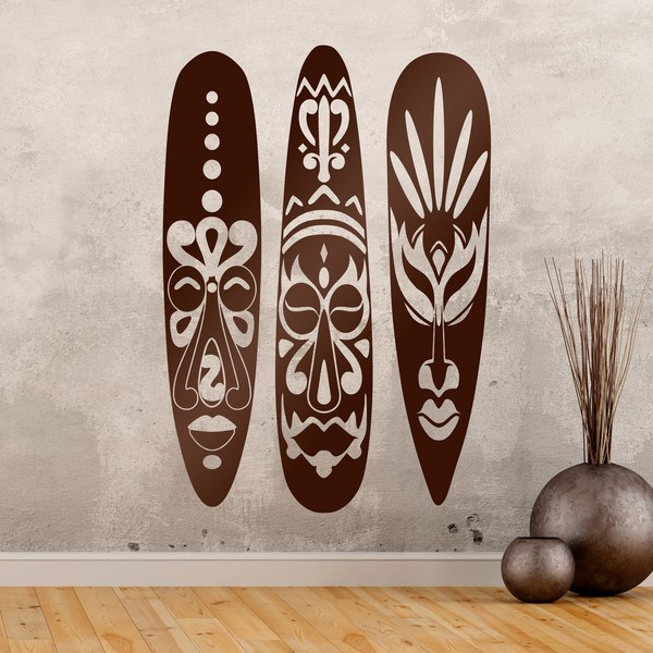 Wall Stickers: Triptych African masks