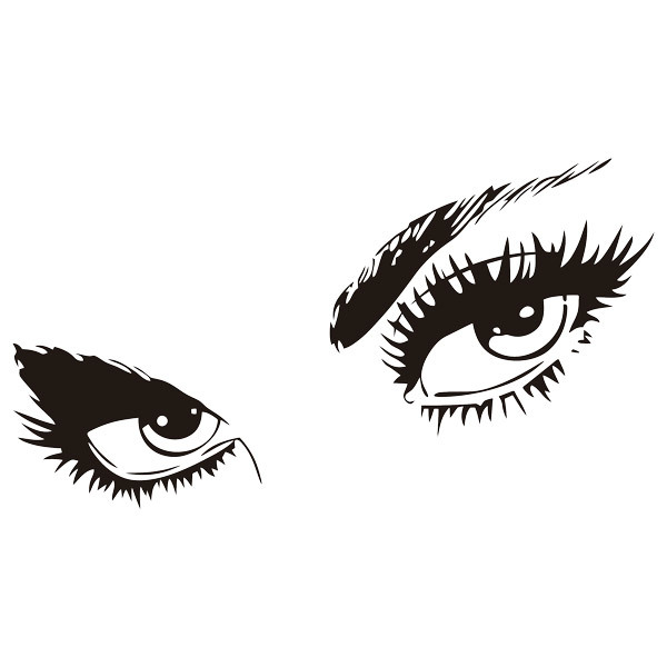 Wall Stickers: Female eyes