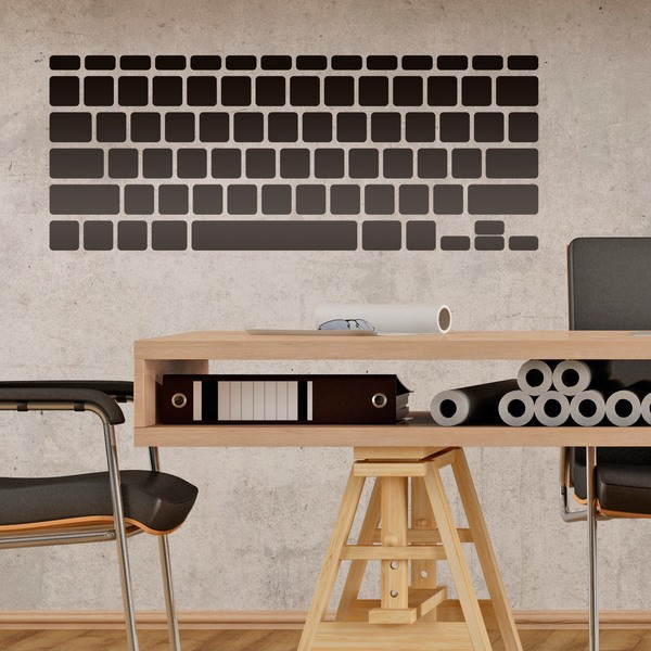 Wall Stickers: Keyboard Computer Laptop