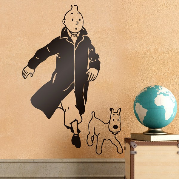 Stickers for Kids: Tintin and Snowy