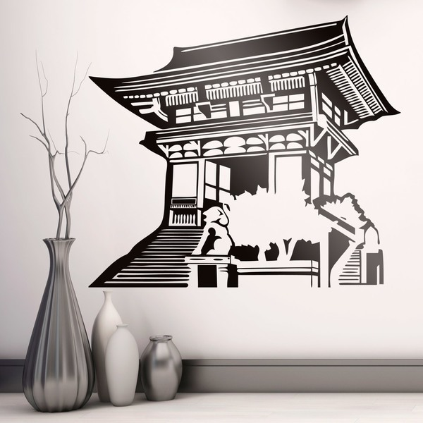 Wall Stickers: Oriental temple