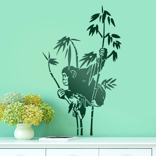 Wall Stickers: Monkey on bamboo