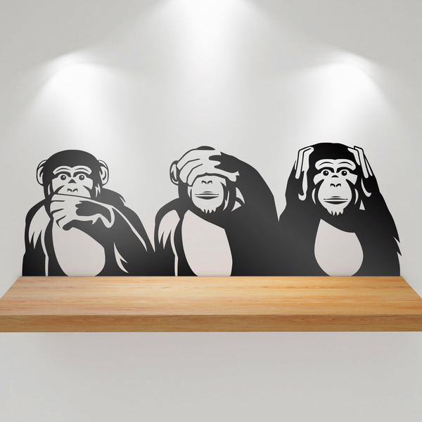 Wall Stickers: Triptychon chimps