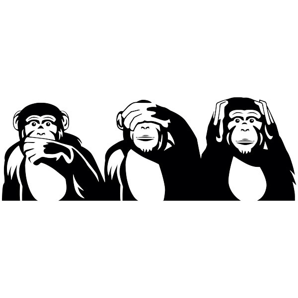 Wall Stickers: The three wise monkeys