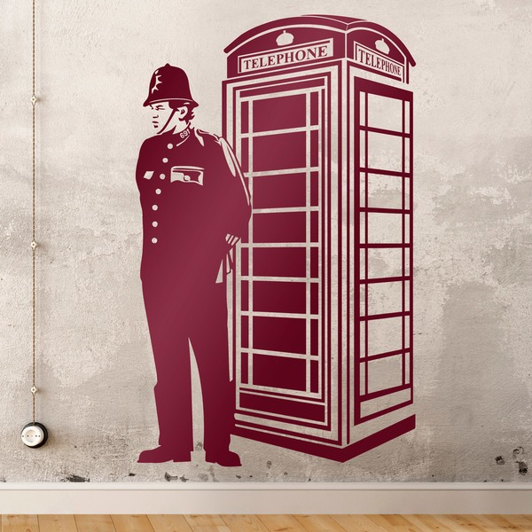 Wall Stickers: London cab and British guard 0