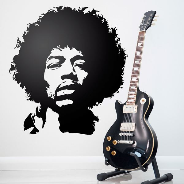 Wall Stickers: Jimi Hendrix face