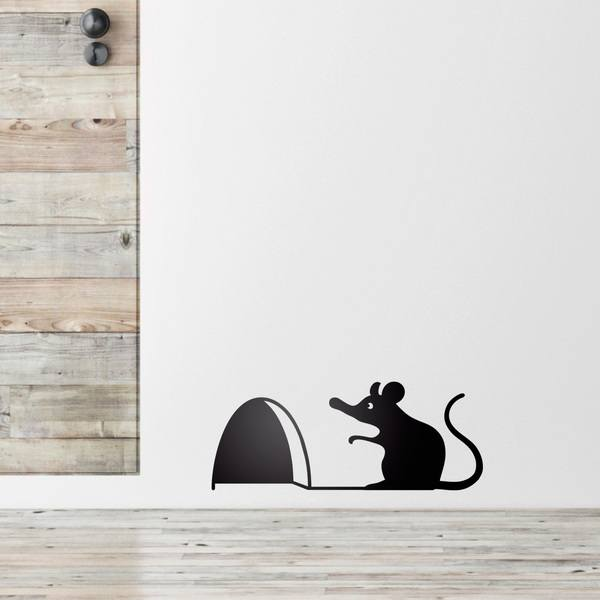 Stickers for Kids: Mouse on the door of your house