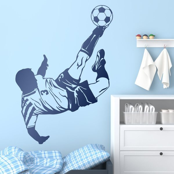 Wall Stickers: Soccer player making a chilean