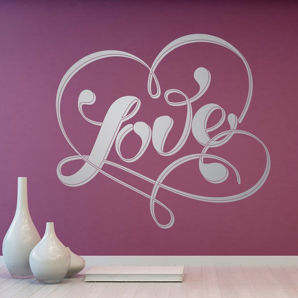 Wall Stickers: Word Love and heart 0