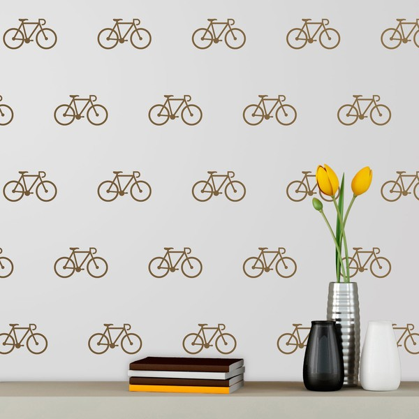 Wall Stickers: Kit 9 stickers Bicycle careers
