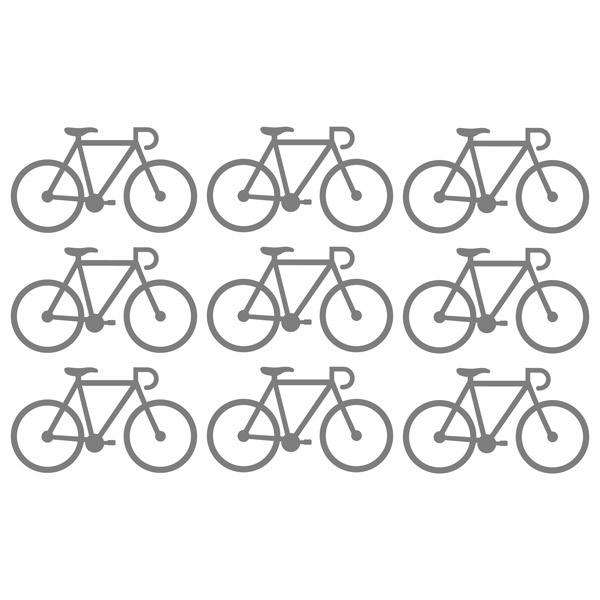 Wall Stickers: Kit 9 stickers Bicycle