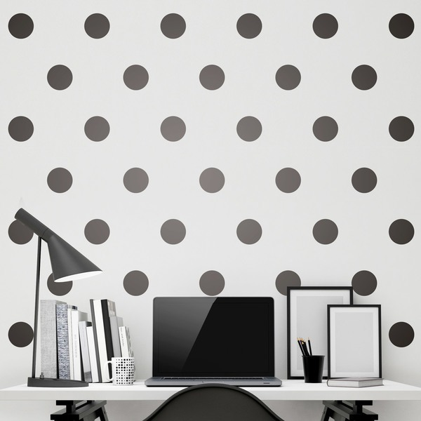 Wall Stickers: Kit 9 stickers polka-dot