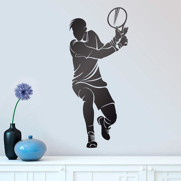Wall Stickers: Tennis player hitting backhand