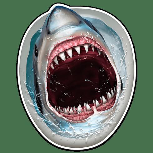 Shark Bath Sticker Muraldecal Com