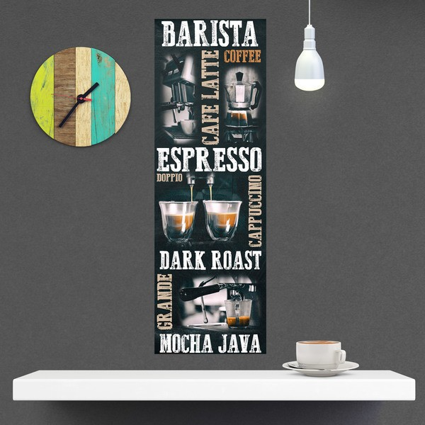 Wall Stickers: Adhesive poster types of coffee