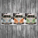 Wall Stickers: 3 Volkswagen T1 (kombi) 3