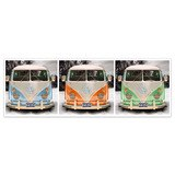 Wall Stickers: 3 Volkswagen T1 (kombi) 4