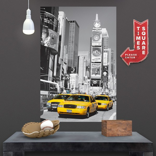 Wall Stickers: Taxis in Times Square