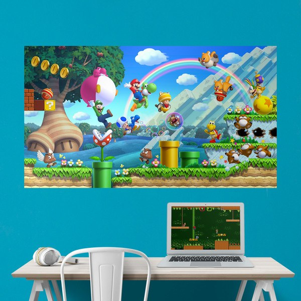 Stickers for Kids: Adhesive Poster Mario Bros