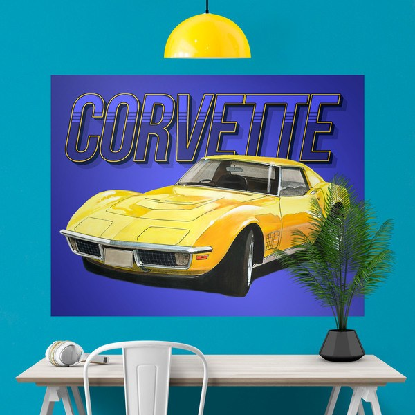 Wall Stickers: Adhesive poster Corvette