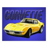 Wall Stickers: Adhesive poster Corvette C3 4