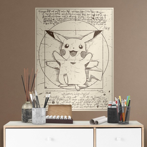 Wall Stickers: Pikachu Vitruvius 1