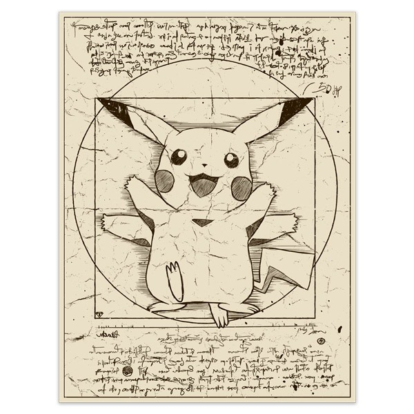 Wall Stickers: Pikachu Vitruvius
