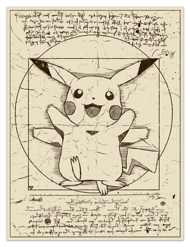 Wall Stickers: Pikachu Vitruvius 0