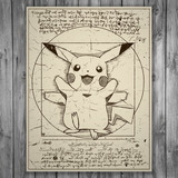 Wall Stickers: Pikachu Vitruvius 3