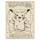 Wall Stickers: Pikachu Vitruvius 4